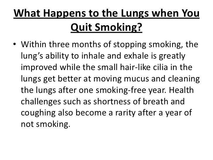 Do lungs heal after quitting smoking