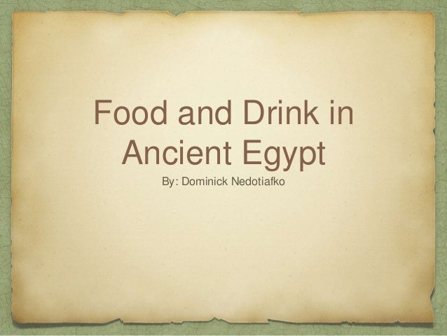 Ancient Egyptian Food Recipes