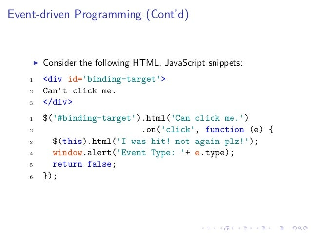 JavaScript: DOM and jQuery