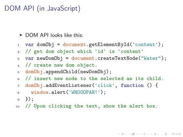 Javascript Dom And Jquery