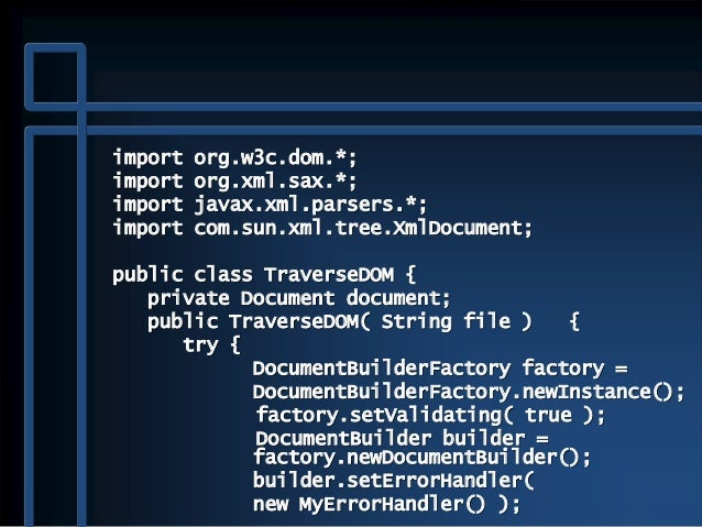 Documentbuilder setvalidating