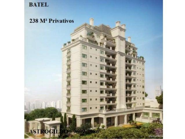 Apartamento Alto Padrão BATEL  238 m² privativos 4 Suítes 9609-7986