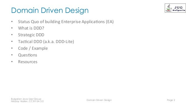 Domain Driven Design Slide 2