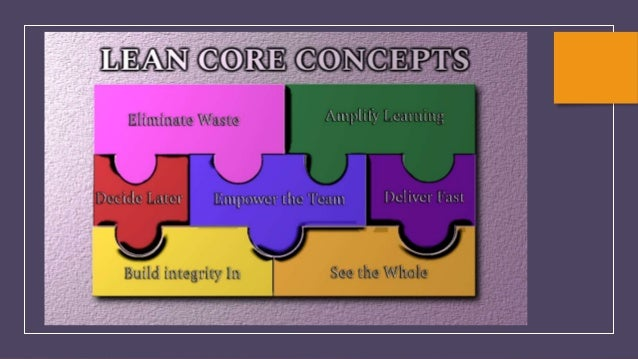 Lean Seven Core Concepts Eliminate Waste •Maximize value by minimizing waste Amplify Learning •Facilitate Communication an...