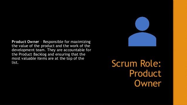 Scrum Role: Development Team Development Team – The people who do the actual work of creating and delivering a potentially...