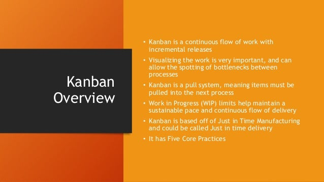 Queueing Theory and Little's Law • The validity of Kanban has been shown through the studying of lines • WIP = Throughput ...