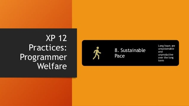 XP 12 Practices: Shared Understanding 9. Collective Code Ownership Team responsibility for code 10. Coding Standard Minimi...