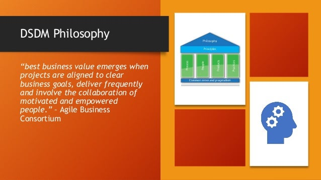 DSDM 8 Principles FOCUS ON THE BUSINESS NEED 1 DELIVER ON TIME 2 COLLABORATE 3 NEVER COMPROMISE QUALITY 4 BUILD INCREMENTA...