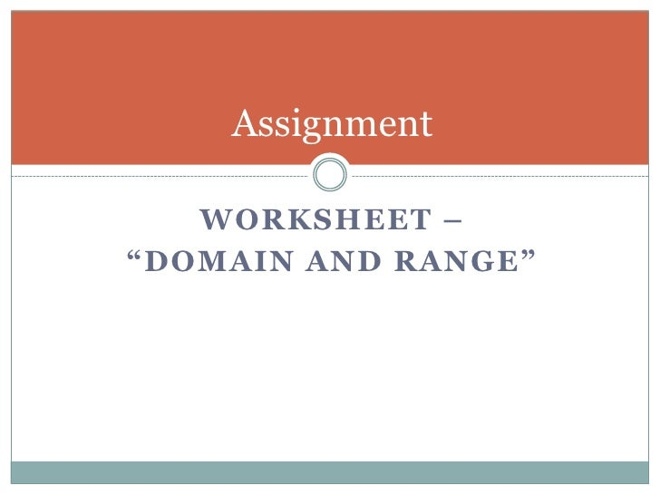 Domain and range – Domain Range Worksheet
