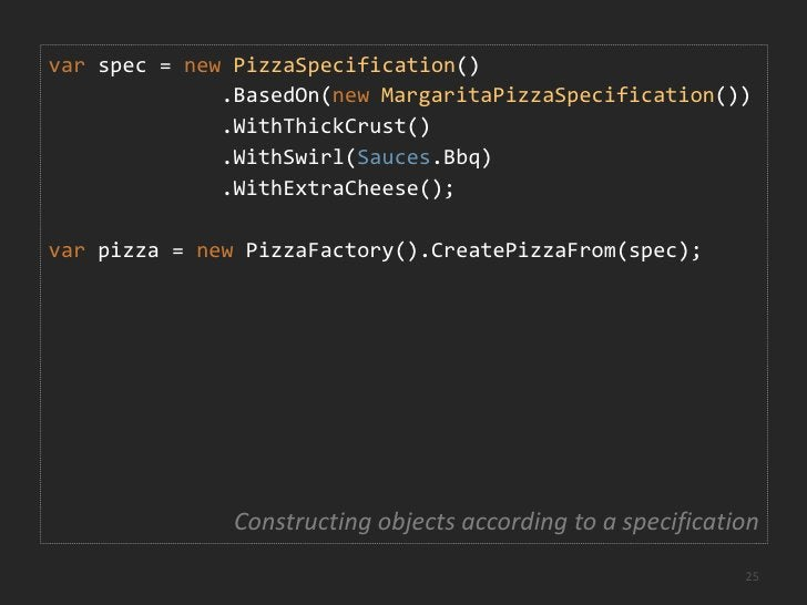 Specifications can be used…<br />to construct objects<br />