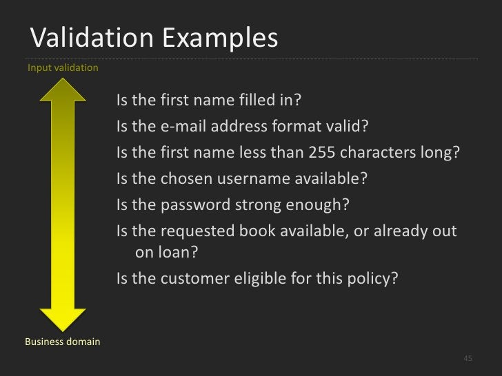Validation<br />