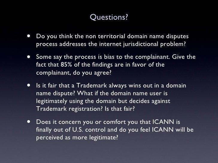 Uniform Domain Name Dispute Resolution