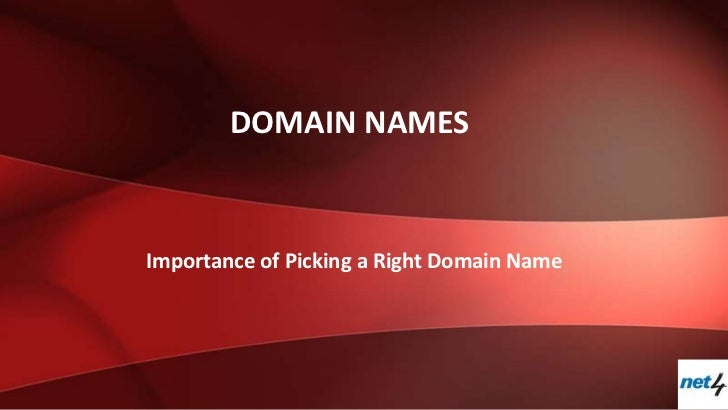 DOMAIN NAMESImportance of Picking a Right Domain Name