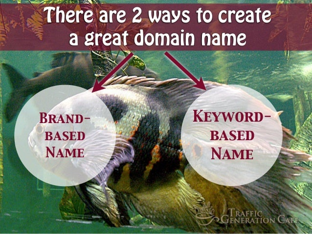 There are 2 ways to create a great domain name  Brandbased Name  Keywordbased Name