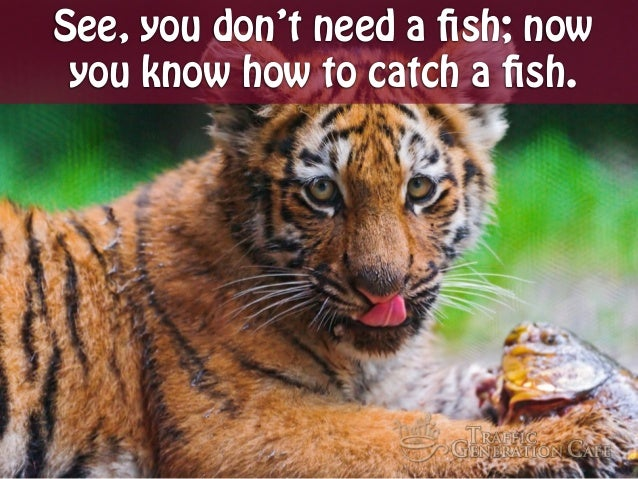 See, you don't need a fish; now you know how to catch a fish.