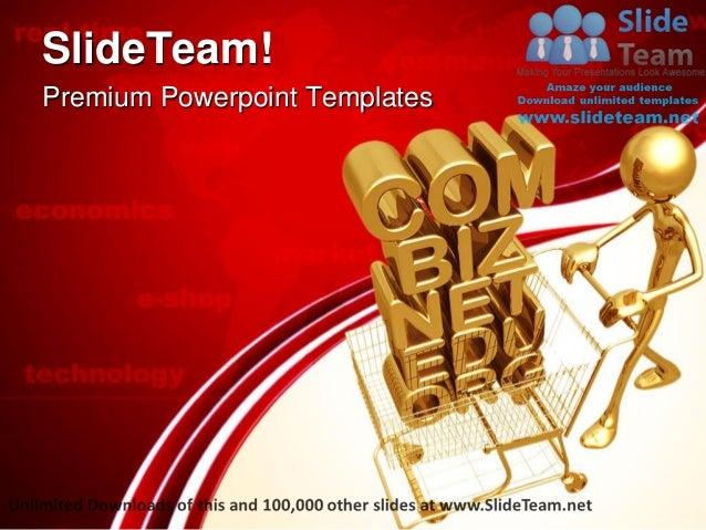 Domain shopping e commerce technology power point templates themes an premium powerpoint templates toneelgroepblik Images