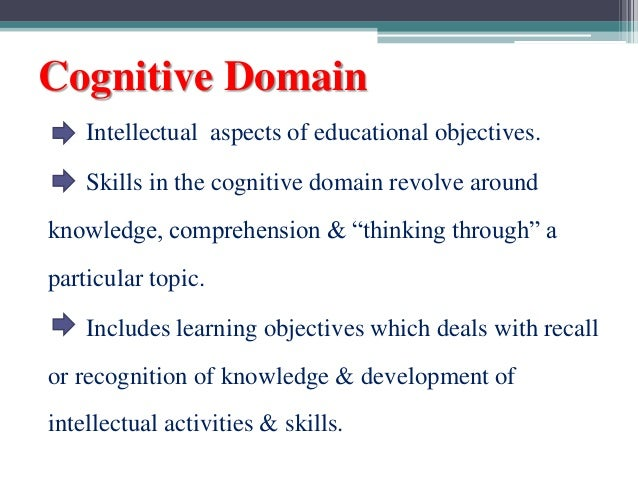 cognitive domain Ii abstract the affective domain in nursing education: educators' perspectives by linda d taylor the university of wisconsin-milwaukee, 2014.