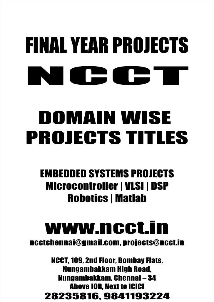 NCC                                         www.ncct.in                                         ncctchennai@gmail.com  FIN...