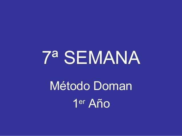 7ª SEMANA Método Doman 1er Año