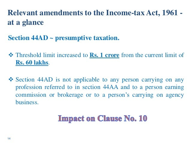 Complete list of sections of Income Tax Act 1961-2019