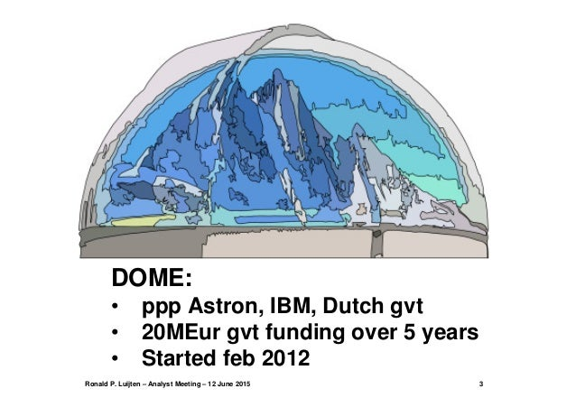 IBM/ASTRON DOME  64-bit Hot Water Cooled Microserver Slide 3