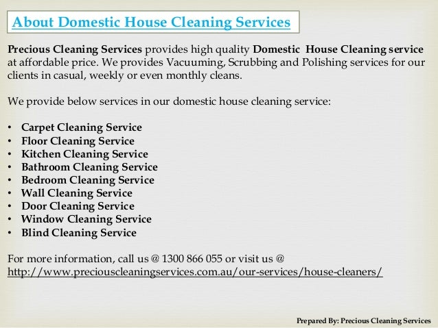 ... Cleaning Services; 4.