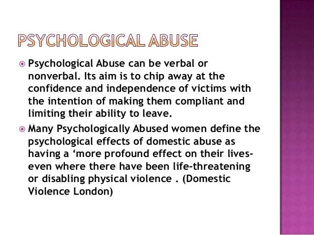 Mental abuse by spouse