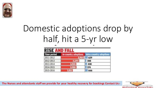 Domestic adoptions drop by half, hit a 5-yr low The Nurses and attendants staff we provide for your healthy recovery for b...