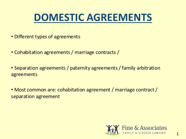 Domestic Agreement Guide Rules For Ontario