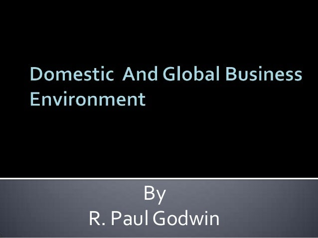domestic environment Domestic environmental law domestic, or national, law refers to the legal system applicable to a defined territory over which a sovereign power has jurisdiction.