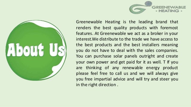 Domestic central heating systems