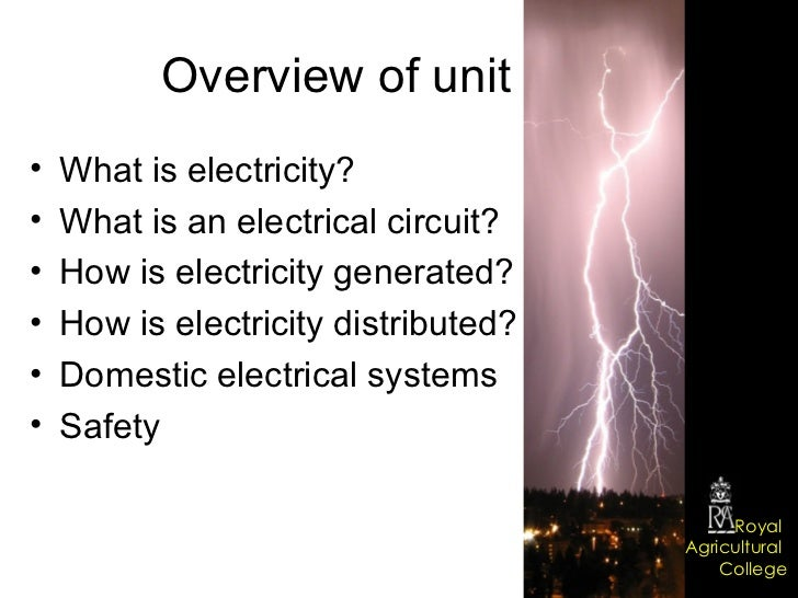 Domestic electrical systems