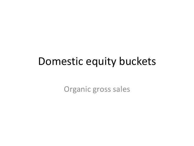 Domestic equity buckets Organic gross sales