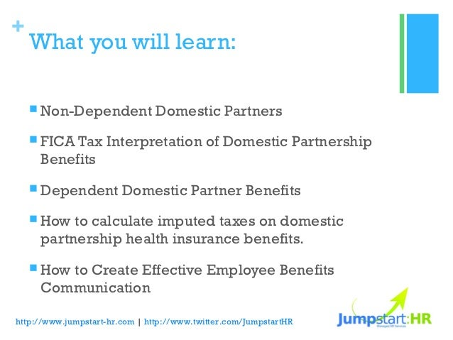 Domestic Partnership: Health Benefits and Tax Implications