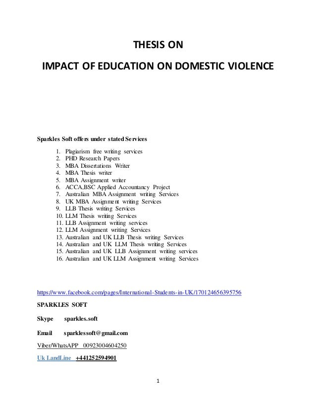 How to write a dissertation on domestic violence