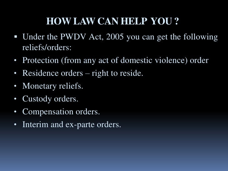 domestic violence act Domestic violence in ireland was first recognised on the statute books in the family law (maintenance of spouses and children) act, 1976 with the introduction of the first civil remedy for.