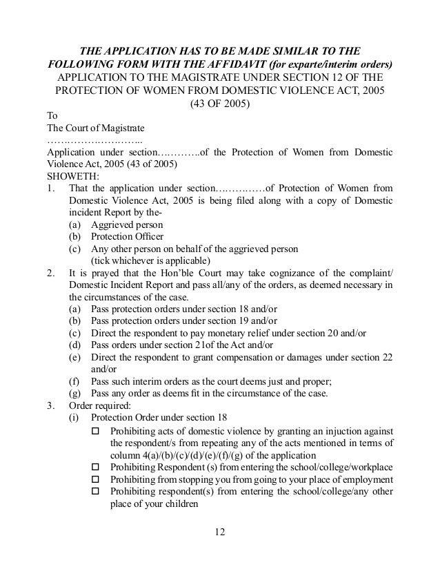 Domestic Violence Act 2005 In English