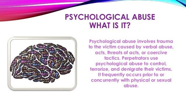Spousal psychological abuse
