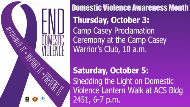 Area I Domestic Violence Awareness Events