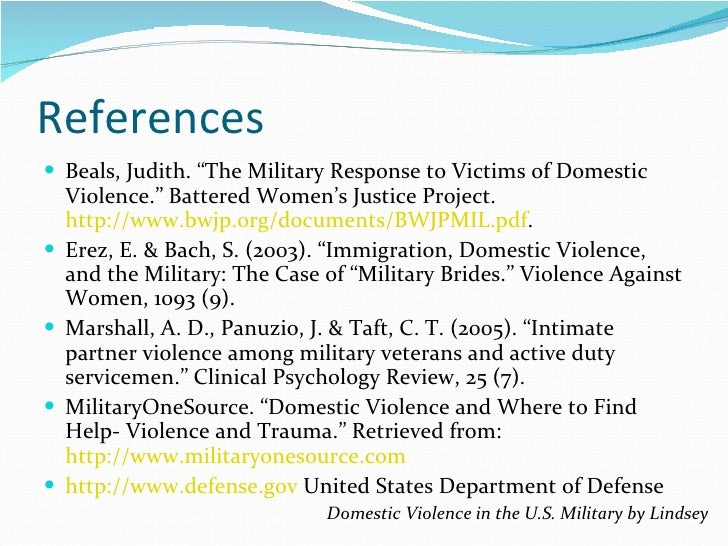 an introduction to the spousal abuse in the military Does military service make a difference in domestic violence no significant difference in domestic violence rates between domestic violence, military.