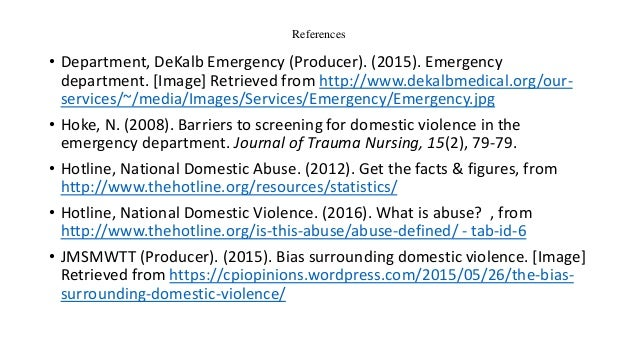 Violence in the Emergency Department: Findings from ENA's ...