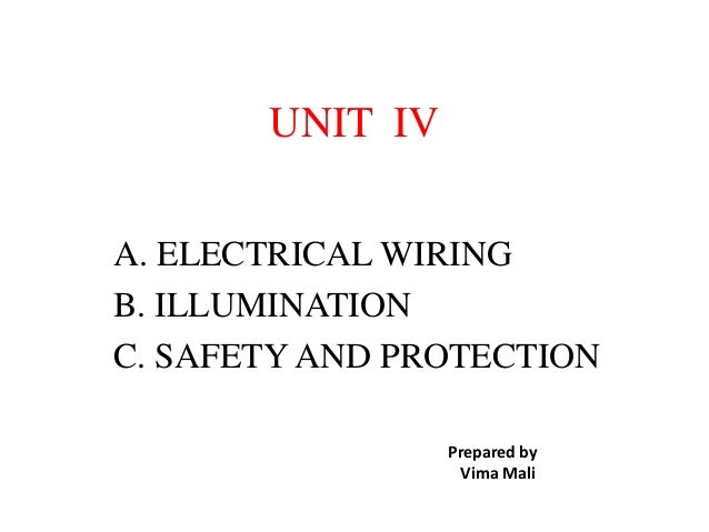Domestic wiring on