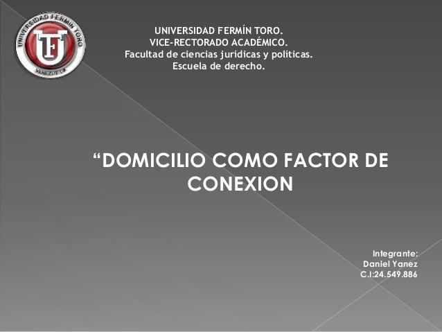 """UNIVERSIDAD FERMÍN TORO.  VICE-RECTORADO ACADÉMICO.  Facultad de ciencias jurídicas y políticas.  Escuela de derecho.  """"DO..."""