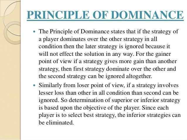 principle of dominance