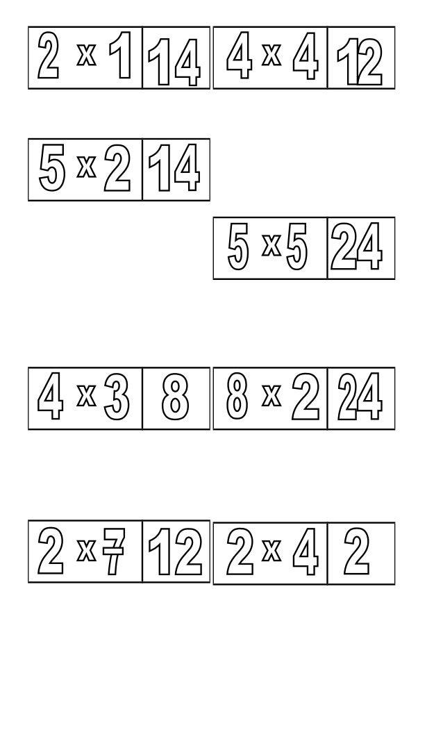 Dominó de la multiplicaciones