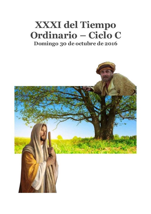 XXXI del Tiempo Ordinario – Ciclo C Domingo 30 de octubre de 2016