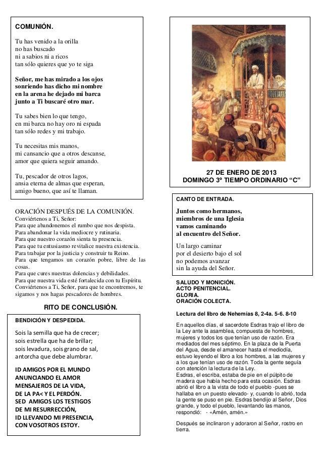 Domingo Iii To Ciclo C Día 27 De Enero Del 2013