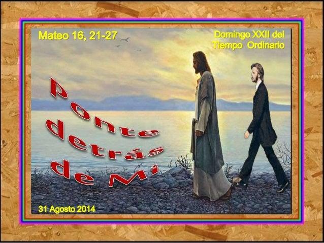 Mateo 16, 21-27  31 Agosto 2014  Domingo XXII del  Tiempo Ordinario