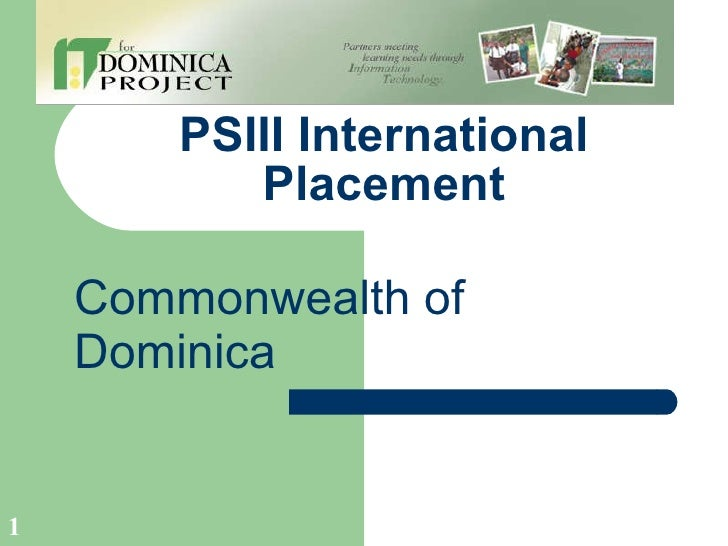 PSIII International Placement Commonwealth of Dominica