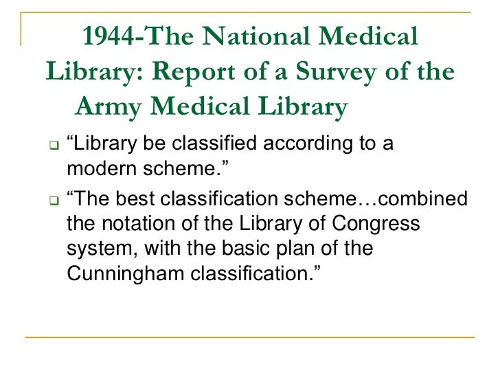 library of congress classification scheme pdf